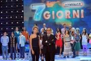 Roma 04/10/2009 Puntata di Domenica in, nella foto Pippo Baudo e Sofia Bruscoli