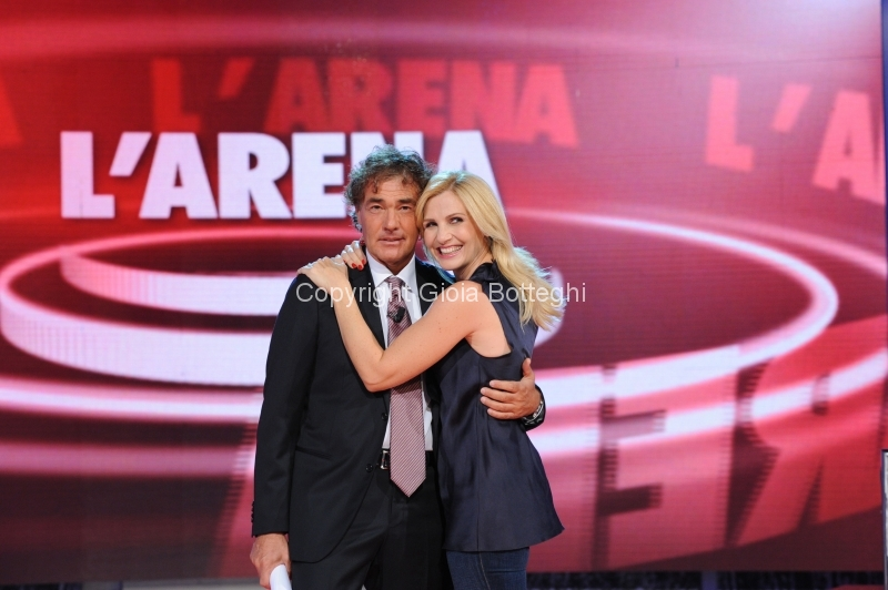 7/10/2012 Roma prima puntata di Domenica in, nella foto Massimo Giletti e Lorella Cuccarini