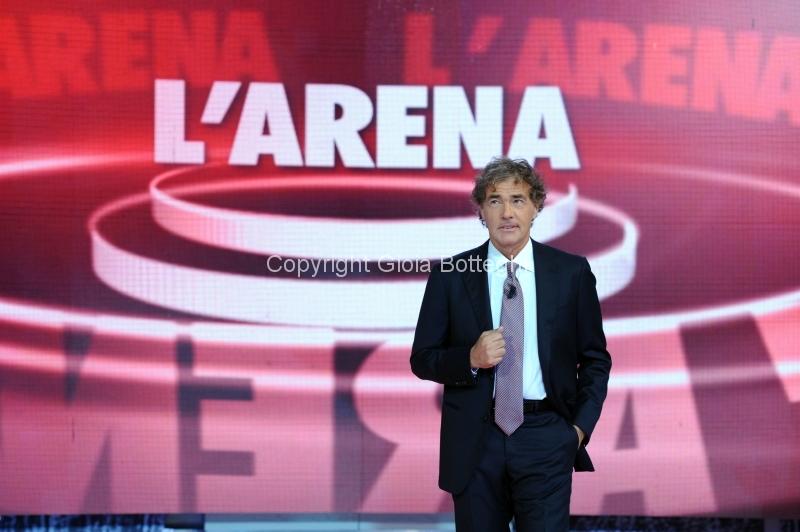 7/10/2012 Roma prima puntata di Domenica in, nella foto Massimo Giletti