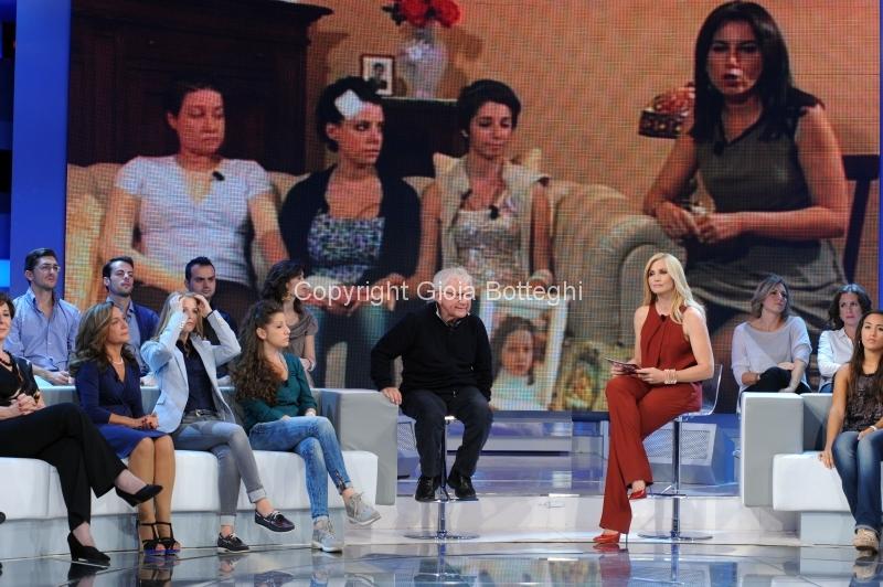 7/10/2012 Roma prima puntata di Domenica in, nella foto Lorella Cuccarini e Don Mazzi