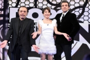 17/02/2017 Roma puntata della trasmissione DOPOFICTION, rai uno, nella foto i conduttori: Insinna, Frassica e Guetta