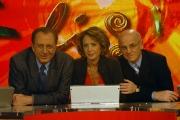 10/11/07 Nuova stagione della trasmissione di raitre Elisir nelle foto Michele Mirabella, Patrizia Schisa e il Dott. Carlo Gargiulo