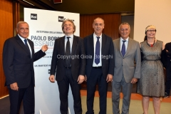 18/07/2016 Roma presntazione del documentario PAOLO BORSELLINO ESSENDO STATO, rai, nella foto : Grasso, Dall'Orto, Legnini, Roberti, Calandrelli