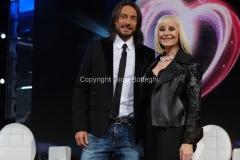 14/05/2011 Roma, Eurosong rai due, nella foto: Raffaella Carrà con Bob Sinclar