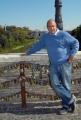 8/10/07 i lucchetti riordinati dal comune di Roma sul Ponte Milvio nelle foto lo scrittore Federico Moccia per la presentazione del musicol TRE METRI SOPRA IL CIELO