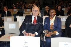 08/03/2014 Roma per radio uno e rai5_ Ferite a morte , nella foto: Pippo Baudo, Cecile Kyenge