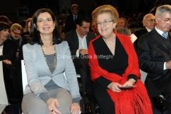 08/03/2014 Roma per radio uno e rai5_ Ferite a morte , nella foto: Annamaria Tarantola , Laura Boldrini
