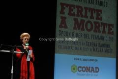 08/03/2014 Roma per radio uno e rai5_ Ferite a morte , nella foto: Annamaria Tarantola