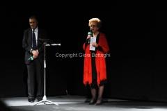 08/03/2014 Roma per radio uno e rai5_ Ferite a morte , nella foto: Annamaria Tarantola e Francesco Adinolfi