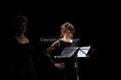 08/03/2014 Roma per radio uno e rai5_ Ferite a morte , nella foto: Lorenza Indovina, Orsetta De Rossi