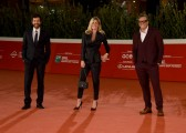 Foto/IPP/Gioia Botteghi Roma 18/10/2020 Festa del cinema di Roma Red Carpet Open Your Eyes nella foto: Muccino, Scianna, Marianna Falace Italy Photo Press - World Copyright