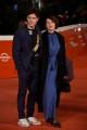 Foto/IPP/Gioia BotteghiRoma 15/10/2020  ff15 red carpet, nella foto: Barbora Bobulova con maritoItaly Photo Press - World Copyright