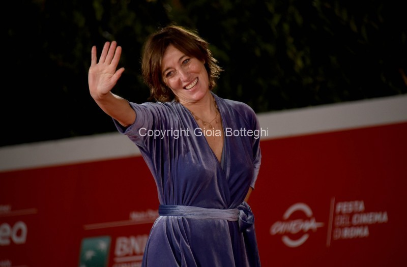 Foto/IPP/Gioia Botteghi Roma 17/10/2020 Festa del cinema di Roma red carpet del film estate 85, nella foto: Valeria Bruni Tedeschi Italy Photo Press - World Copyright