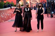 Foto/IPP/Gioia Botteghi Roma 21/10/2020 Festa del cinema di Roma Red Carpet del film Maledetta primavera , nella foto:   le due ex miss Italia  Giulia Arena, Nadia Bengala e Alla Zavarina Italy Photo Press - World Copyright