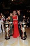 30/04/2011 serata finale di BALLANDO CON LE STELLE, nella foto: Kaspar Capparoni e Yulia Musikhina con Milly Carlucci