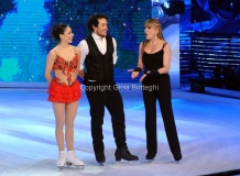 21/03/2015 Roma finale di Notti sul ghiaccio, nella foto i vincitori Giorgio Rocca e Eve Bentley