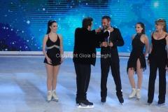 21/03/2015 Roma finale di Notti sul ghiaccio, nella foto premio della giuria a Giorgio Borghetti e Federica Costantini
