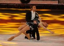21/03/2015 Roma finale di Notti sul ghiaccio, nella foto i secondi classificati Emanuele Filiberto di Savoia e Jennifer Wester
