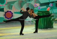 21/03/2015 Roma finale di Notti sul ghiaccio, nella foto Claudia Gerini