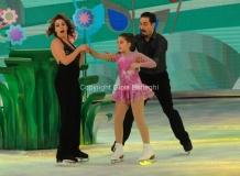 21/03/2015 Roma finale di Notti sul ghiaccio, nella foto Claudia gerini con la figlia Rosa