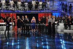 6/01/2012 Roma serata finale della lotteria Italia LA PROVA DEL CUOCO, nella foto: Antonella Clerici e gli ospiti