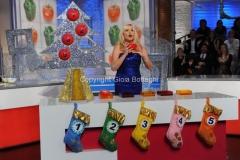 6/01/2012 Roma serata finale della lotteria Italia LA PROVA DEL CUOCO, nella foto: Antonella Clerici