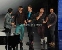 21/11/2011 Roma, seconda puntata dello spettacolo di Fiorello nella foto con i Coldplay