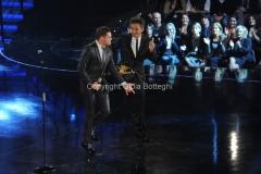 21/11/2011 Roma, seconda puntata dello spettacolo di Fiorello nella foto con Michael Bouble