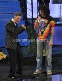 21/11/2011 Roma, seconda puntata dello spettacolo di Fiorello nella foto con Caparezza