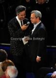 21/11/2011 Roma, seconda puntata dello spettacolo di Fiorello nella foto con Enrico Mentana