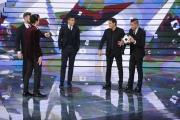 20/02/2015 Roma puntata di forte forte forte ospite Morgan De Sanctis, Leandro Paredes, Rudi Garcia, Antonio Sanabria con Ivan Olita