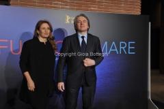 03/03/2016 Roma Serata di presentazione Rai, del film Fuocoammare che ha vinto il festival di Berlino, nella foto Monica Maggioni e Antonio Campo Dall'Orto
