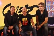 Foto/IPP/Gioia Botteghi 19/09/2016 Roma conferenza stampa per la presentazione di Gazebo , rai tre, nellafoto: Diego Bianchi, Andrea Salerno e Marco D'Ambrosio Makkox