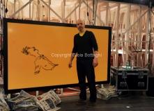 17/03/2013 Roma programma di raitre GAZEBO condotto da Diego Bianchi ( Zoro)