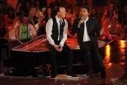 Roma 04/03/2010 Prima puntata di_ Gigi, Questo sono io, condotto da Gigi D'Alessio con Lucio Dalla