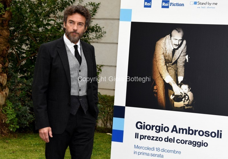 Foto/IPP/Gioia Botteghi Roma16/12/2019 presentazione del Docu fiction Giorgio Ambrosoli, nella foto Alessio Boni photocall all'interno della Banca d'Italia Italy Photo Press - World Copyright