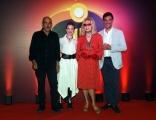Foto/IPP/Gioia Botteghi 12/07/2018 Roma, presentazione del film Gli incredibili 2, nella foto Tiberio Timperi e Amanda Lear  Italy Photo Press - World Copyright