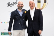 Foto/IPP/Gioia Botteghi 13/06/2018 Roma, Photocall Globi d'oro, nella foto:  Toni Servillo con Donato Carrisi  Italy Photo Press - World Copyright