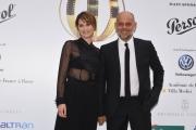 Foto/IPP/Gioia Botteghi 13/06/2018 Roma, Photocall Globi d'oro, nella foto:  Paola Cortellesi con il marito Riccardo Milani  Italy Photo Press - World Copyright