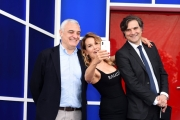 Foto/IPP/Gioia Botteghi 16/04/2018 Roma, Presentazione della15 edizione del Ggrande Faratello, nella foto: Barbara d'Urso con Scheri e Pasquinelli  Italy Photo Press - World Copyright