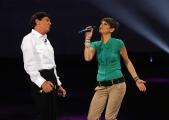 Roma 15/11/09 seconda puntata di GRAZIE A TUTTI, nella foto Gianni Morandi e Alessandra Amoroso