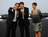 Roma 15/11/09 seconda puntata di GRAZIE A TUTTI, nella foto Gianni Morandi e Alessandra Amoroso, Franco Neri