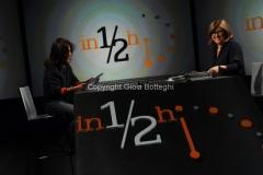 21/09/2014 Roma Lucia Annunziata ospita Sabina Guzzanti nella trasmissione in mezz'ora su raitre