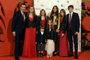 14/10/2016 Firenze presentazione della fiction di rai uno I Medici, red carpet, nella foto Luca Bernabei con tutta la sua famiglia