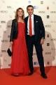 14/10/2016 Firenze presentazione della fiction di rai uno I Medici, red carpet, nella foto Luca Bernabei con la moglie