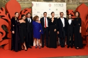 14/10/2016 Firenze presentazione della fiction di rai uno I Medici, red carpet, nella foto cast e produzione