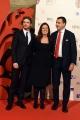 14/10/2016 Firenze presentazione della fiction di rai uno I Medici, red carpet, nella foto Richard Madden con Eleonora Andreatta e Luca Bernabei
