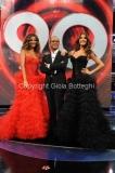 16/09/2011 Roma, prima puntata del programma I MIGLIORI ANNI, nella foto Sara Facciolini e Roberta Morise con Carlo Conti