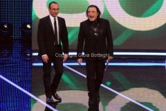 19/01/2013 Roma trasmissione rai I MIGLIORI ANNI, nella foto: Nino Frassica Carlo Conti