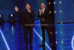 19/01/2013 Roma trasmissione rai I MIGLIORI ANNI, nella foto: Massimo Ranieri con Carlo Conti